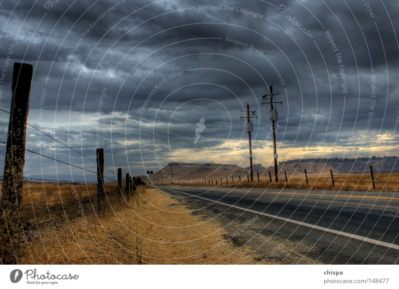 Clouds Street Rain USA Drought California Country road San Francisco Yosemite National Park