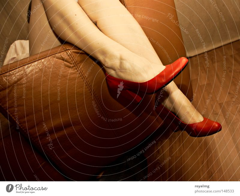 Woman Human being Beautiful Red Adults Relaxation Feminine Emotions Naked Legs Feet Footwear Sit Skin
