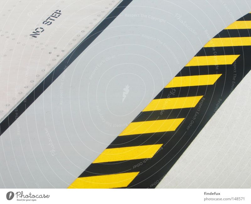 Walk The Line Abstract Structures and shapes Arrangement Border Bans Warning label Wing Airplane Airport No trespassing yellow/black