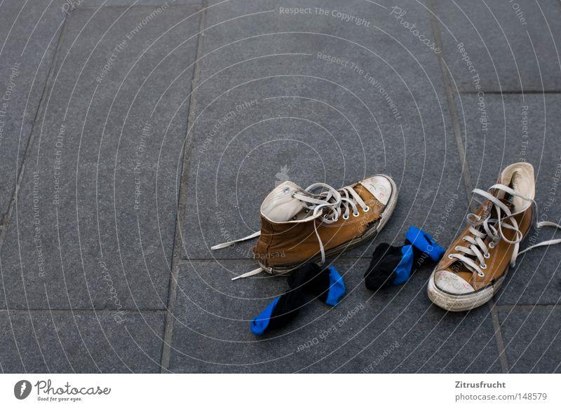 Blue White Summer Colour Loneliness Dye Feet Footwear Walking Lie Running sports Ground Floor covering Broken Clothing Asphalt