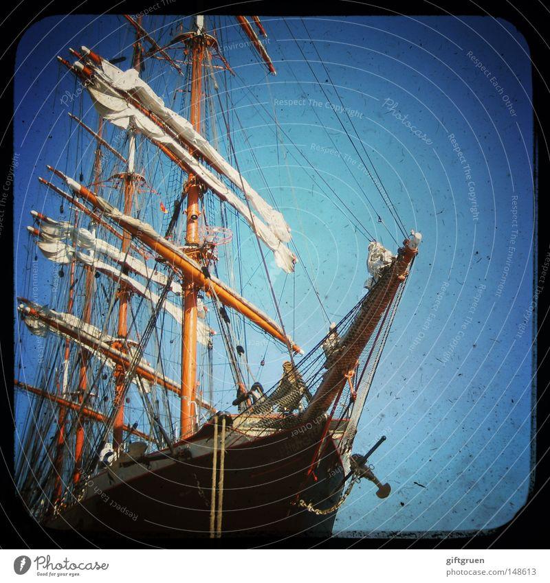 Vacation & Travel Ocean Watercraft Rope Harbour Navigation Sailing Electricity pylon Sail Sailboat Yacht Cruise Bow Seaman Sailing ship Captain
