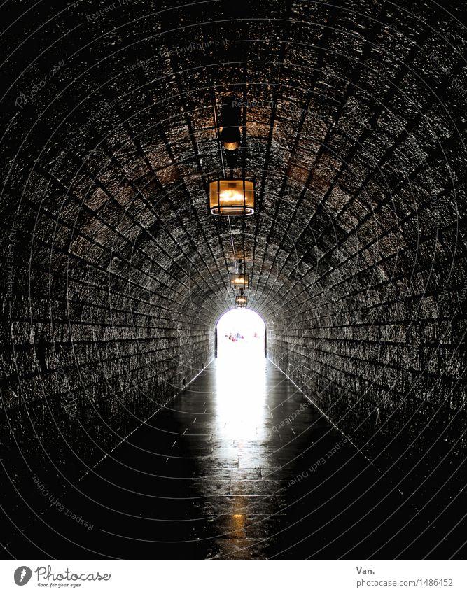 Dark Lighting Stone Lamp Lantern Long Tunnel