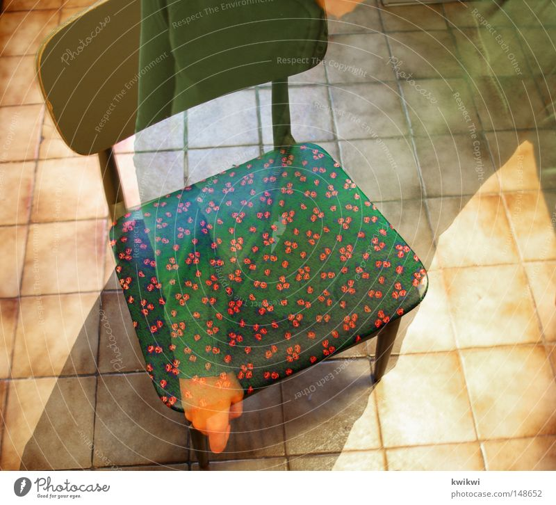 I/You/they it// SIT! Green Kitchen Chair Floor covering Ground Tile Rose Red Multicoloured Long exposure multiple exposure