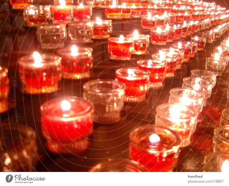 illusory world Candle Tea warmer candle Red Light Obscure Religion and faith Christmas & Advent Church service Flame Blaze
