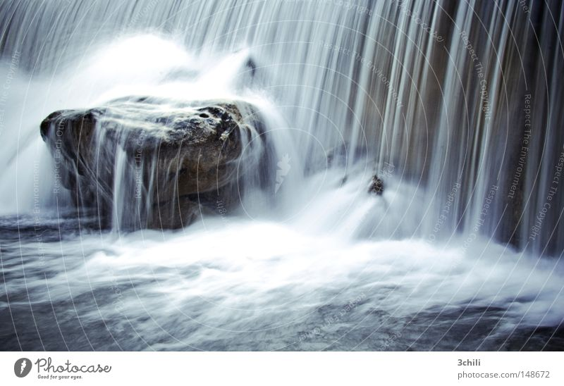 Nature Blue Water White Environment Cold Life Movement Gray Stone Rock Power Energy industry Wet Fresh River