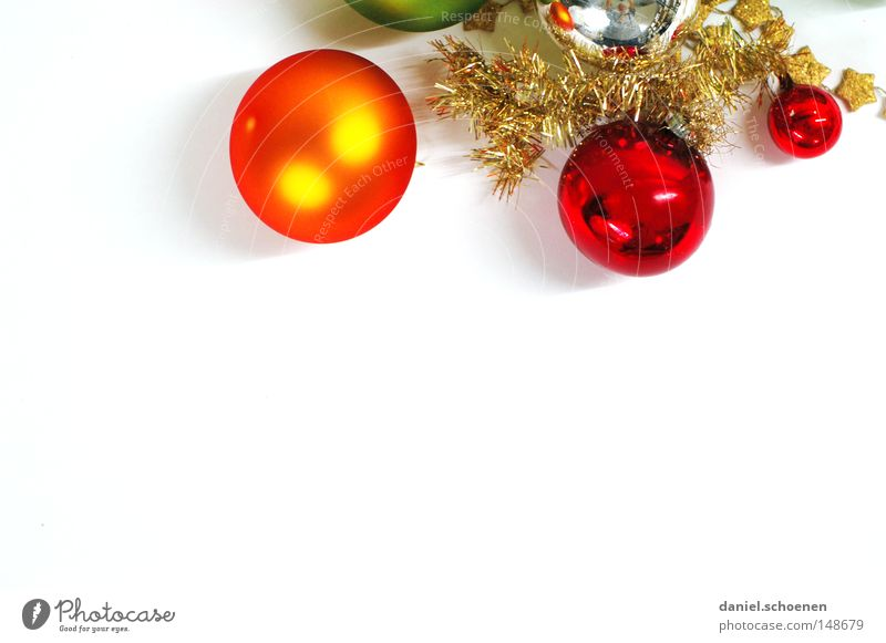 Christmas & Advent Green White Red Winter Glittering Orange Decoration Christmas decoration Isolated Image Round Symbols and metaphors Sphere Silver
