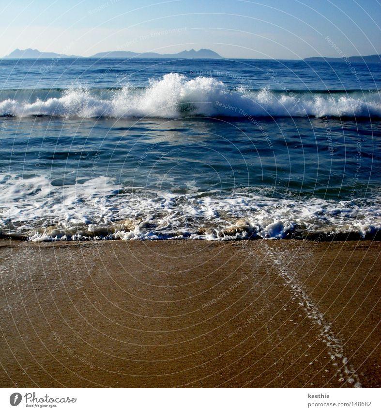 Water Sky Ocean Blue Summer Beach Vacation & Travel Far-off places Freedom Warmth Sand Waves Coast Horizon Fresh Europe