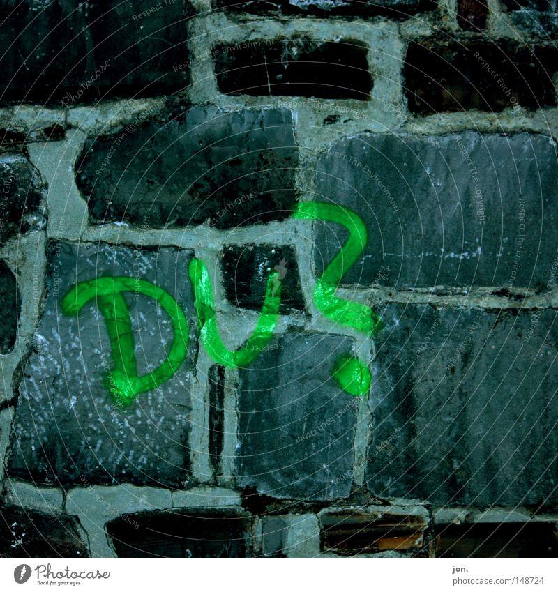 Green Dark Gray Stone Wall (barrier) Graffiti Monument Society Landmark Word Ask Mural painting