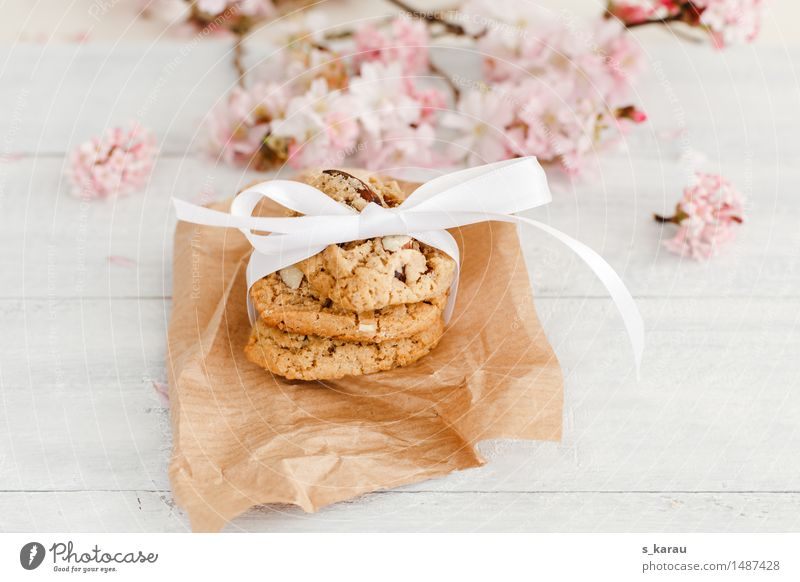 almond biscuits Food Dough Baked goods Candy To have a coffee Bright Delicious Pink White Joie de vivre (Vitality) Hospitality Joy To enjoy Cookie Almond