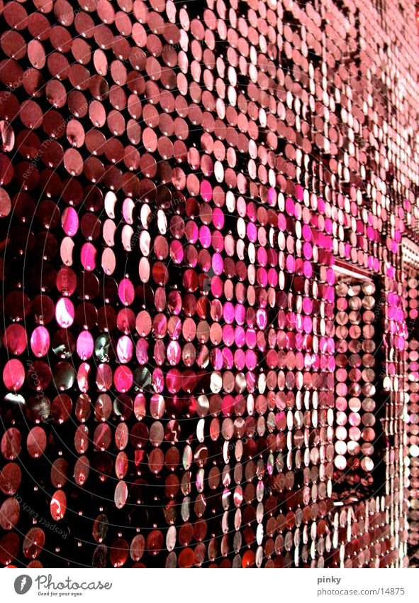 Metal Architecture Glittering Pink Retro Drape Silver Seventies Sixties Purple
