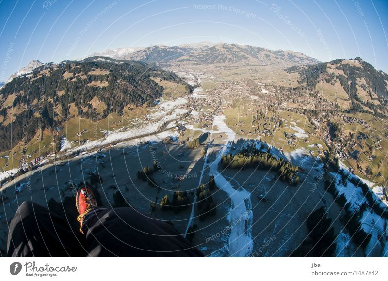 Winter Wonder Land ? Lifestyle Relaxation Calm Leisure and hobbies Trip Freedom Mountain Sports Paragliding Nature Landscape Elements Sky Climate change