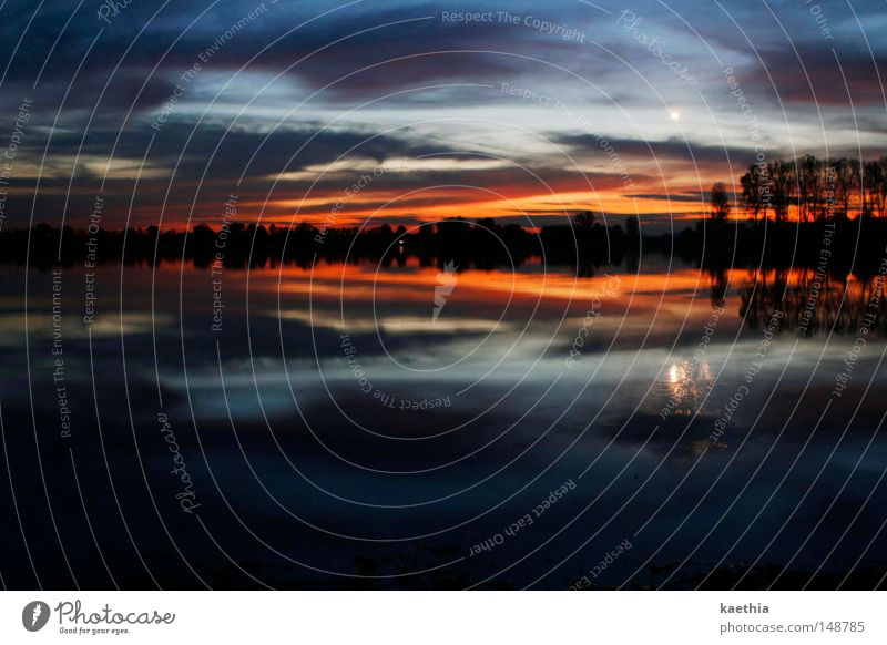 Sky Nature Water Clouds Calm Dark Autumn Moody Lake Fog Moon Bizarre Illuminate Surrealism Dusk Norway