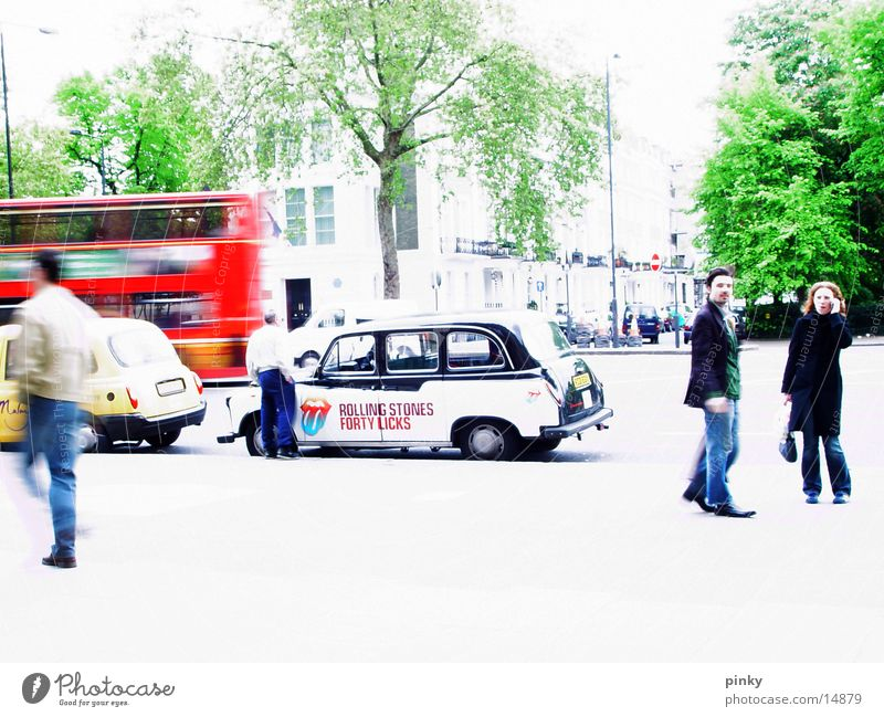 Tree Going Walking Europe To go for a walk London Bus Pedestrian Taxi England Great Britain