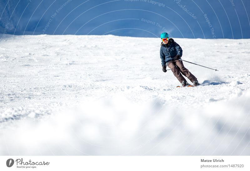 Skilady 2 Sports Winter sports Skiing Skis Free skiing Ski run Feminine 1 Human being Environment Nature Sunlight Beautiful weather Snow Hill Rock Alps Mountain