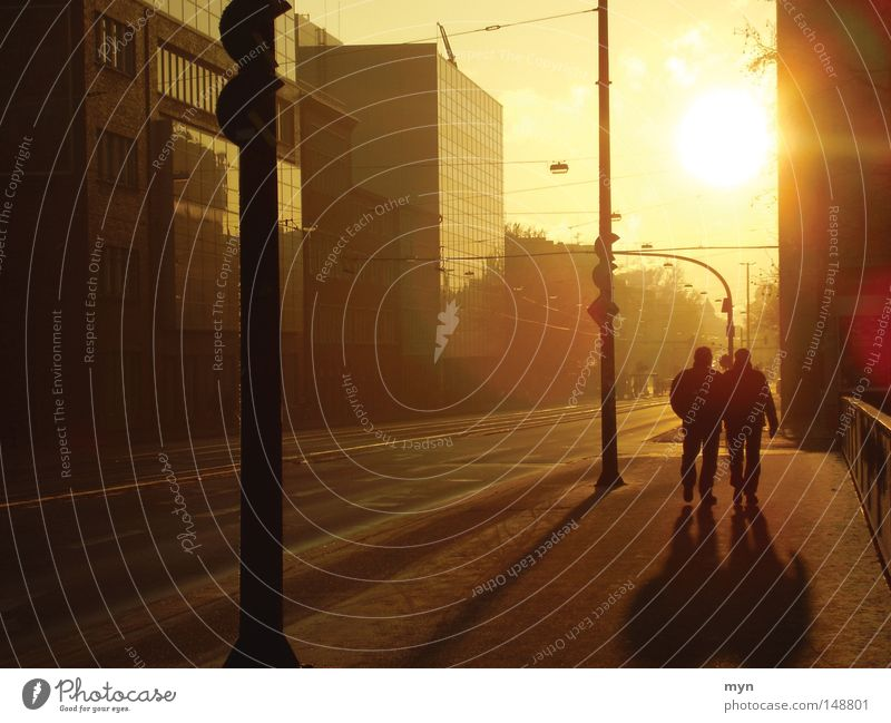 Human being City Sun Red Joy Black Winter Yellow Warmth Street Happy Moody Orange Masculine City life To go for a walk