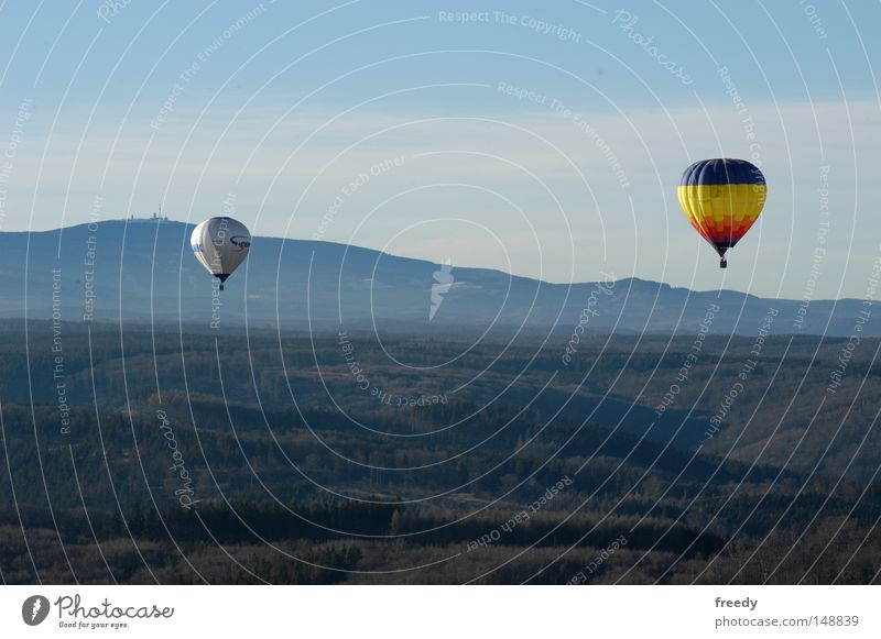 Far-off places Mountain Movement Fog Driving Leisure and hobbies Hot Air Balloon Harz