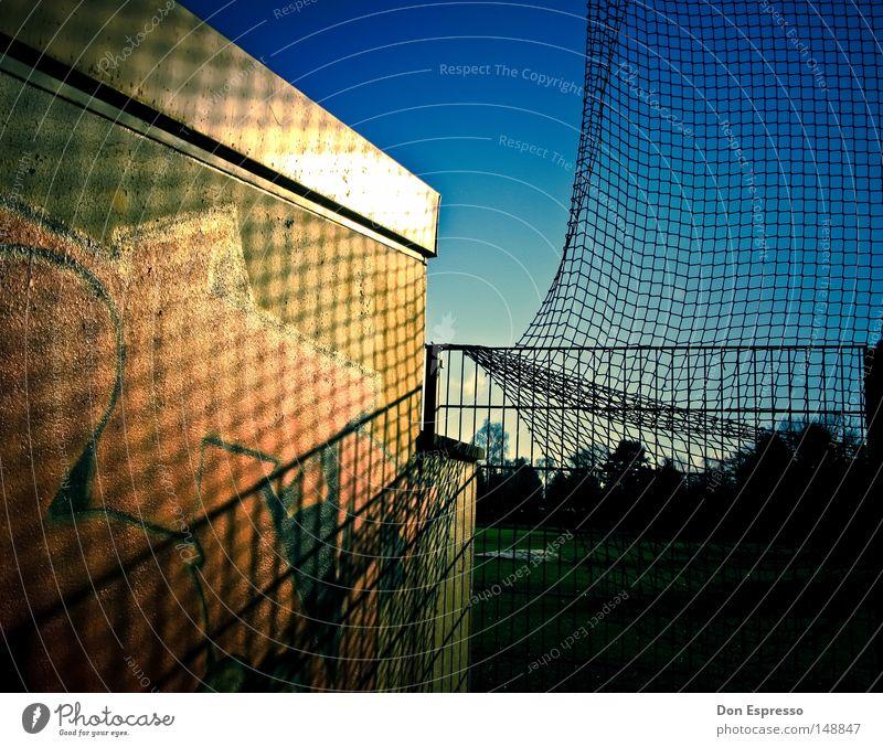 RANDOM Graffiti Net Shadow No idea Sporting grounds Sky Blue Beautiful vignette