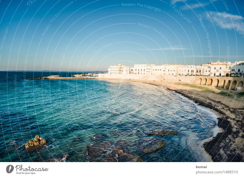 Evening in Italy (II) Vacation & Travel Tourism Trip Adventure Freedom City trip Summer Summer vacation Sun Beach Ocean Waves gallipoli Apulia Small Town