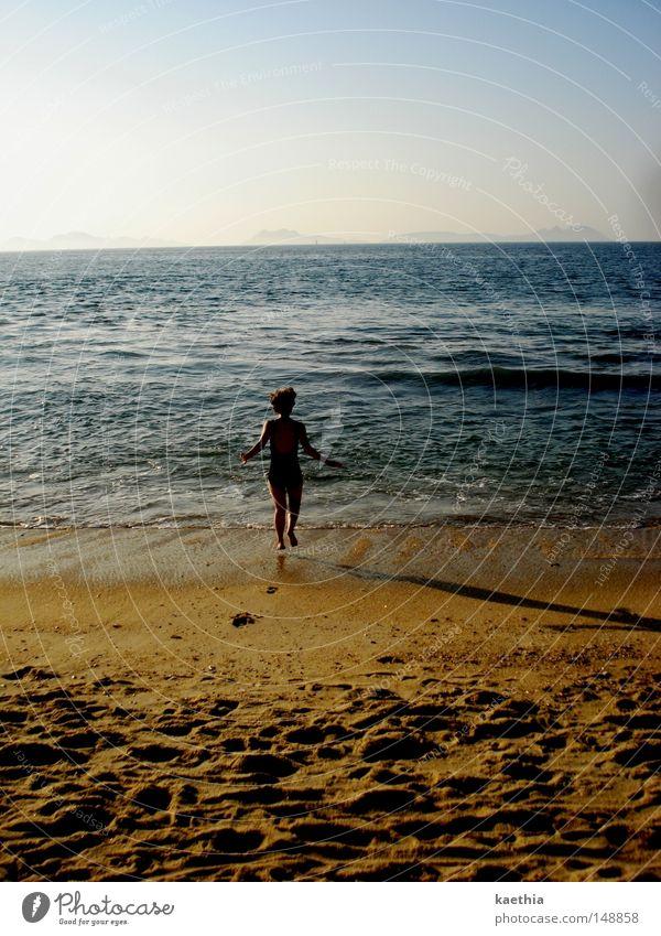 Woman Nature Water Sky Ocean Blue Summer Joy Beach Vacation & Travel Sand Waves Coast Walking Horizon