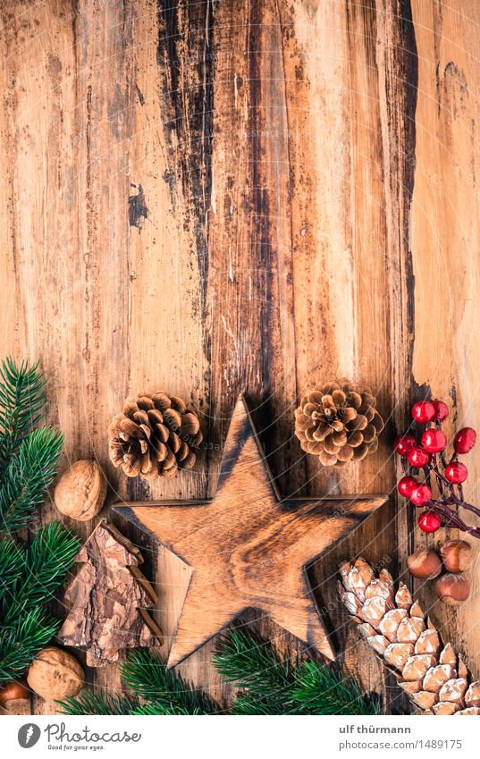 Christmas Background Calm Winter Flat (apartment) Decoration Table Feasts & Celebrations Christmas & Advent Wood Sign Star (Symbol) Living or residing Old