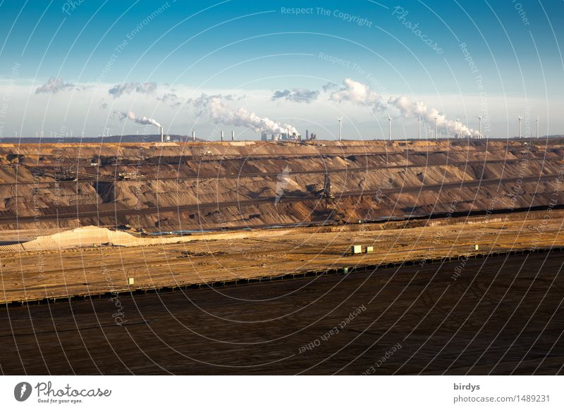 Open cast mine Garzweiler, Garzweiler 2 Work and employment Workplace Energy industry Mining Technology Coal power station Environment Landscape Earth Sky