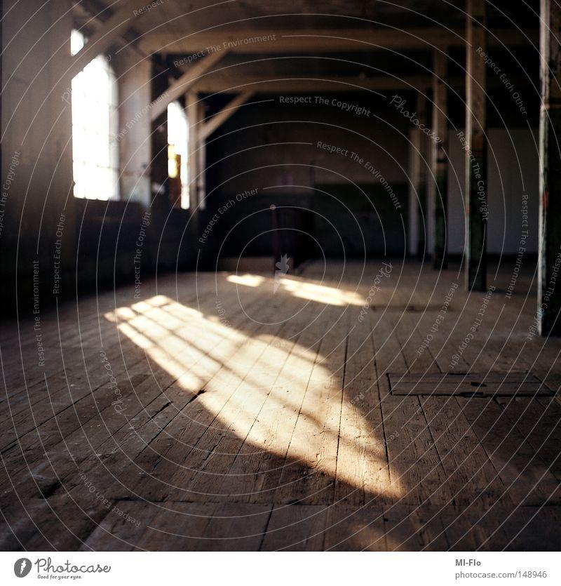 cotton mill Factory Sun Light Shadow Medium format Wooden floor Old Industry Morbid left