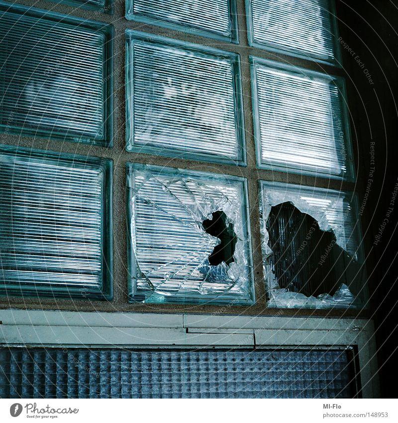 Blue Bright Glass Broken Derelict Couch Belgium Shard Building rubble Liège