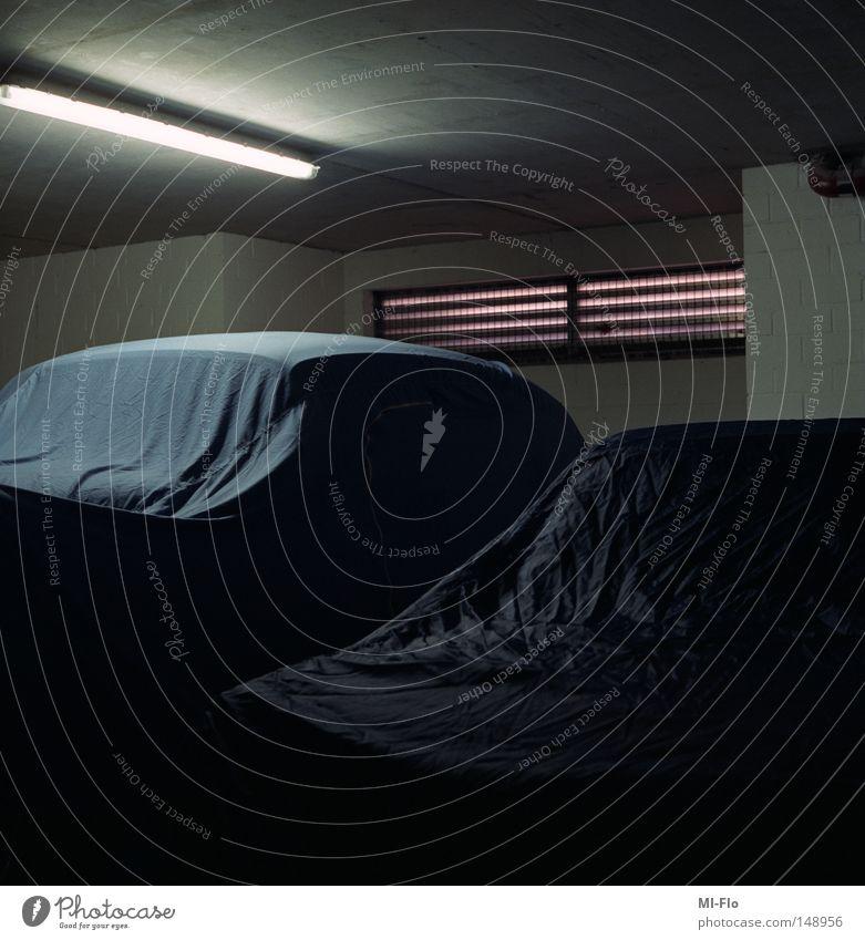 Dark Car Motor vehicle Couch Wrinkles Boredom Neon light Garage Concealed Liège