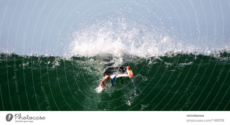 Water Green Blue Ocean Sports Playing Waves Surfing Surfer