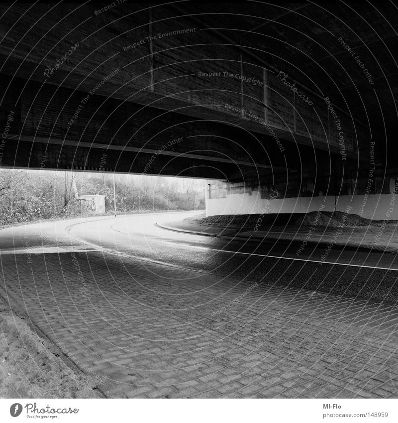 White Black Street Dark Lanes & trails Bright Bridge Asphalt Highway