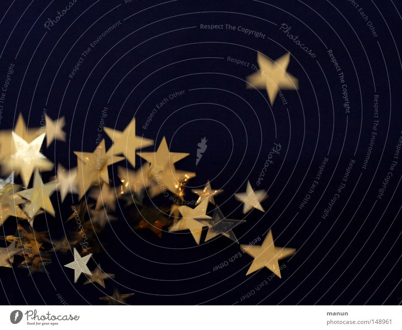 Christmas & Advent Life Jump Movement Moody Feasts & Celebrations Gold Glittering Happiness Star (Symbol) Exceptional Decoration Illuminate Sign Night