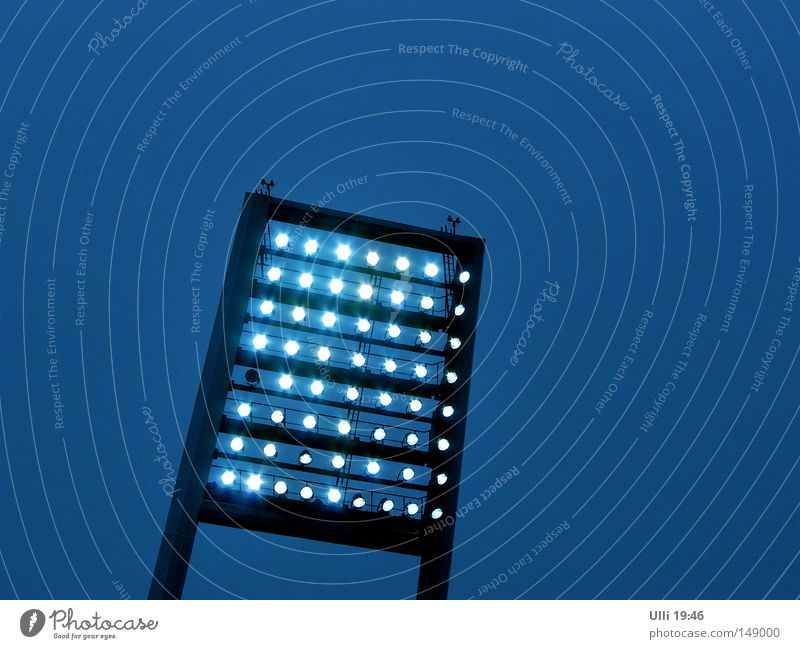 Sky Blue Heaven Lamp Moody Bright Illuminate Modern Electricity Broken Passion Playing field Cloudless sky Sharp-edged Electric bulb Enthusiasm