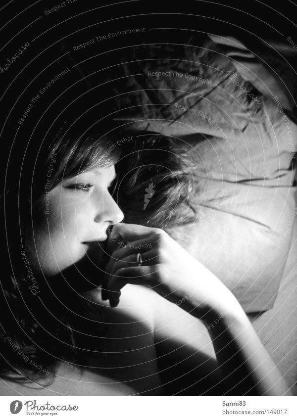 Woman Joy Relaxation Dark Happy Dream Peace Infatuation