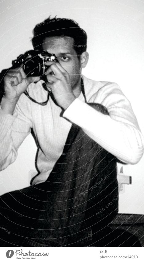 Man Photography Photographer Take a photo Black & white photo
