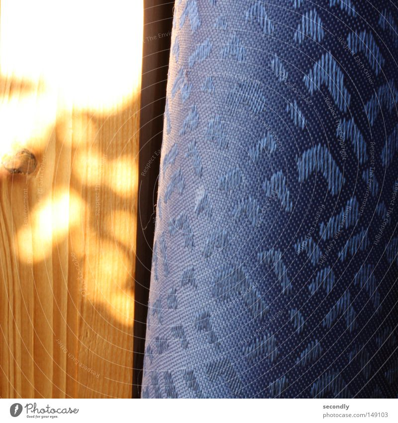 morning sun on photo Light Shadow Wood Drape Arrangement Progress Orange Blue Contrast Bedroom Peace lines down arrows up brightness contrast material contrast