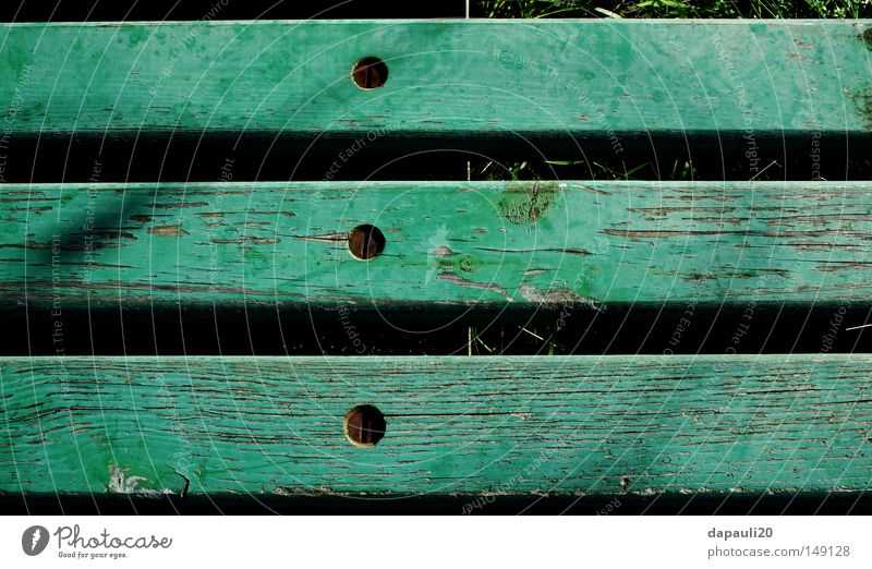 Nature Old Green Summer Calm Garden Wood Park Metal Bench Bank building Leisure and hobbies Metalware Derelict Rust Screw