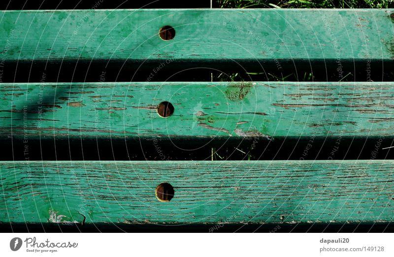 Nature Old Green Summer Calm Garden Wood Park Metal Bench Bank building Leisure and hobbies Metalware Derelict Rust Screw