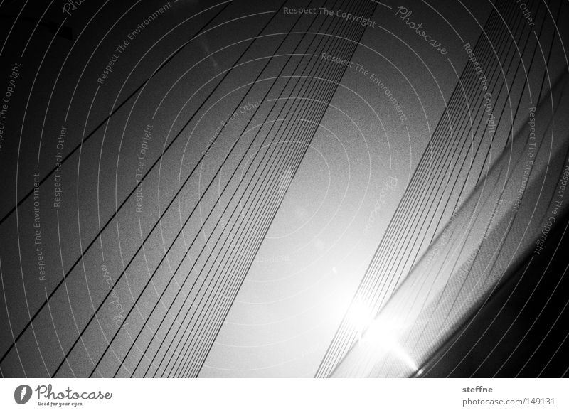 the greatest photo of all time Sun Bridge Line Black White Aspire Motor vehicle Parallel Black & white photo Abstract Structures and shapes Deserted Sunlight