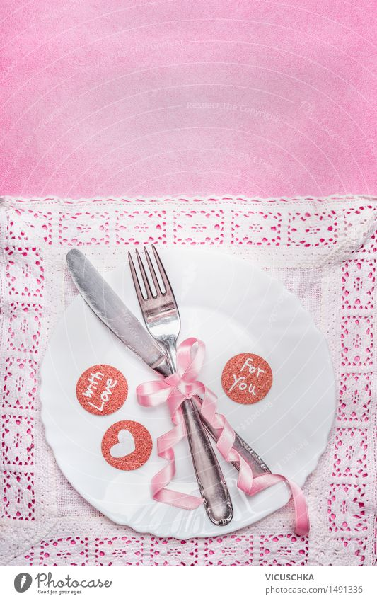 Love Eating Style Background picture Feasts & Celebrations Party Pink Design Elegant Decoration Birthday Nutrition Table Heart Romance Wedding