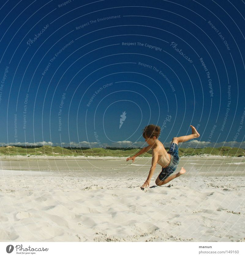 Human being Child Sky Youth (Young adults) Blue Green Vacation & Travel Ocean Summer Beach Joy Clouds Far-off places Relaxation Playing Boy (child)