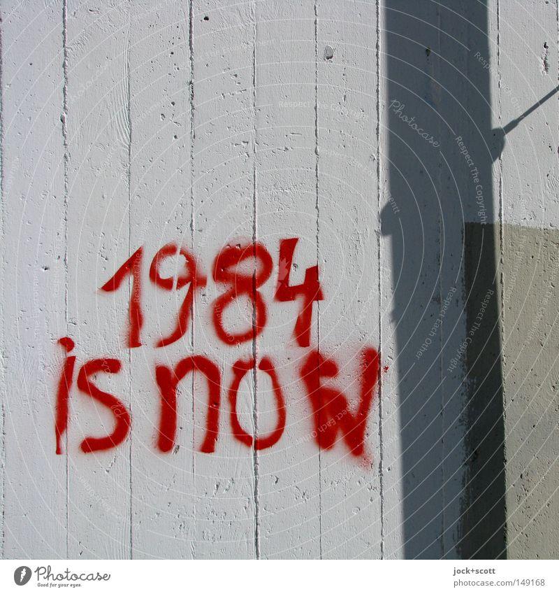 Transparent 1984 Advancement Future Information Technology Internet Street art Wall (barrier) Wall (building) Concrete Stripe Word Threat Together Original