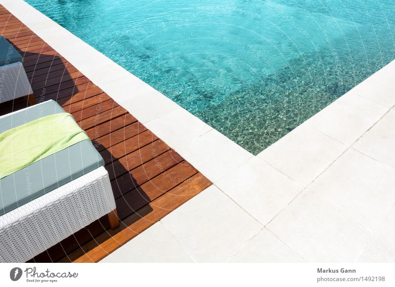Vacation & Travel Colour Summer Water Relaxation Calm Life Style Design Fresh Wellness Swimming pool Resort