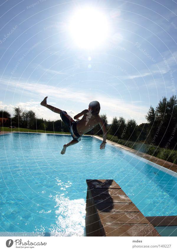 jump Italy Tuscany Swimming & Bathing Swimming pool Jump Sun Nature Water Sky Blue Vacation & Travel Joy