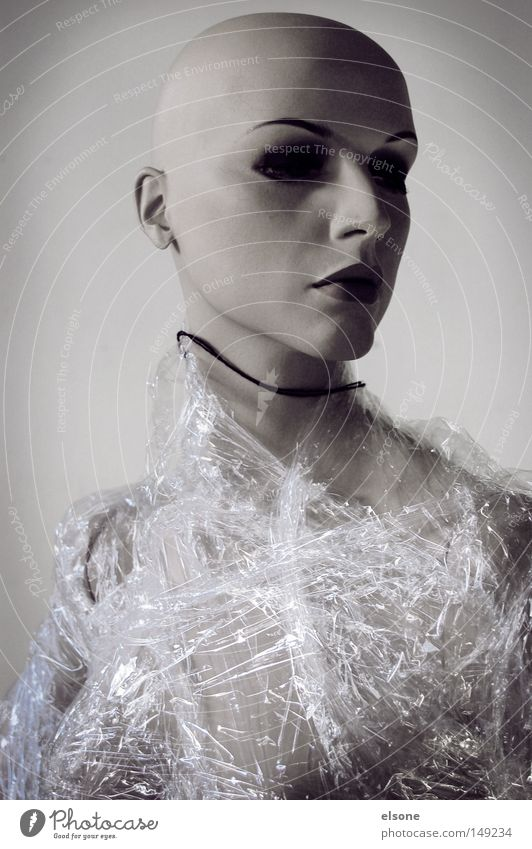 Woman Human being Feminine Death Plastic Statue Figure Sculpture Doll Bald or shaved head Portrait photograph Emotionally cold