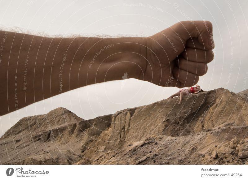 Woman Hand Sky Joy Mountain Gray Sand Power Fear Dirty Funny Arm Germany Large Crazy
