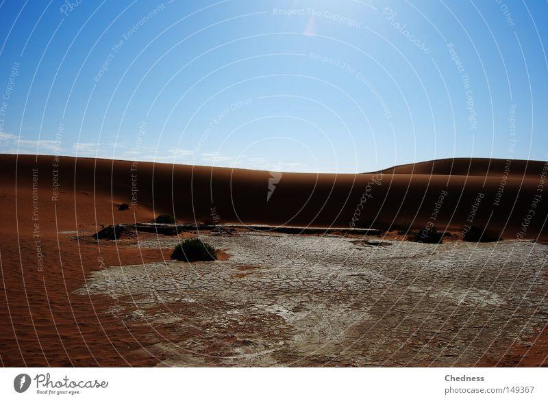 aridity Sun Warmth Pan Drought Dune Sand Desert Namib desert Namibia Africa Dry Earth scalding