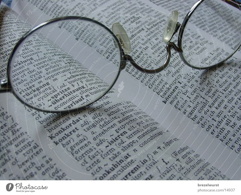 Eyeglasses Book English Encyclopedia