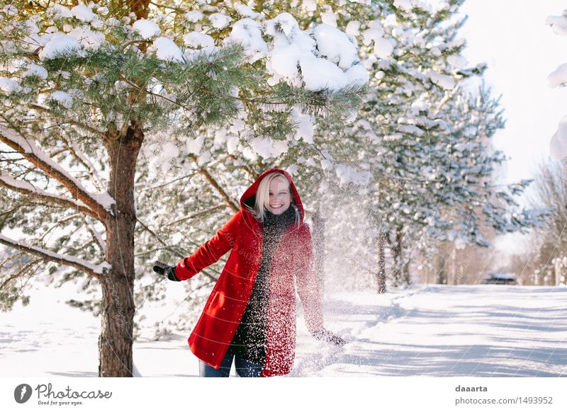 winter wonders Joy Winter Life Emotions Snow Feminine Style Playing Laughter Lifestyle Freedom Party Design Tourism Wild Leisure and hobbies