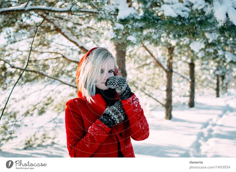 serious snow mood Relaxation Joy Winter Warmth Life Emotions Snow Feminine Style Playing Lifestyle Freedom Fashion Moody Design Wild
