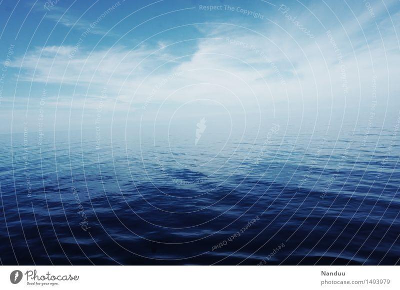 Sky Nature Blue Ocean Calm Cold Environment Horizon Esthetic Elements Eternity Hope Gulf of Mexico